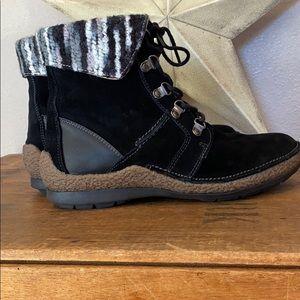 Propet Women's Ankle Black Boot Sz 8W